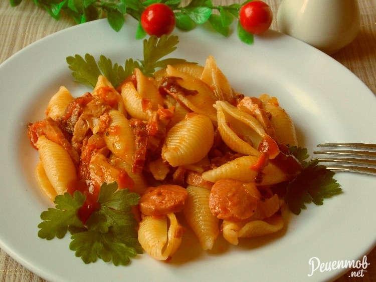 соус для спагетти с колбасой рецепт