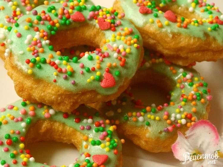 пончики с цветной фото рецепт