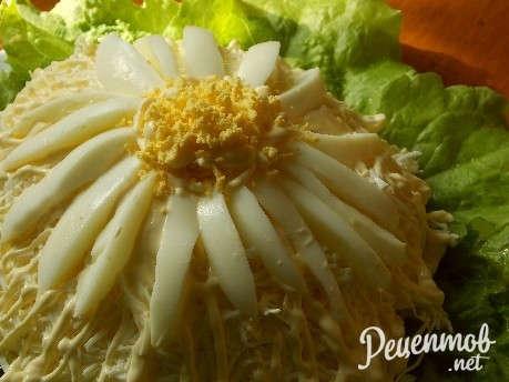 салат ромашка рецепт с фото пошаговое фото