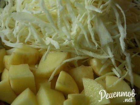 Лагман рецепт с капустой с пошаговое