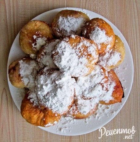 Пончики с сгущенкой на сковороде рецепт