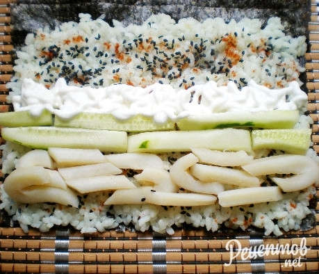 Суши с кальмаром рецепт с фото