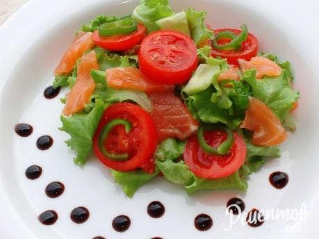 пошаговые рецепты с фото салатов из семги