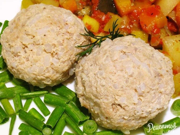 Тефтели с картошкой в духовке  рецепт с фото пошагово