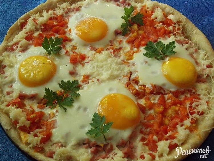 Пицца из яиц рецепт