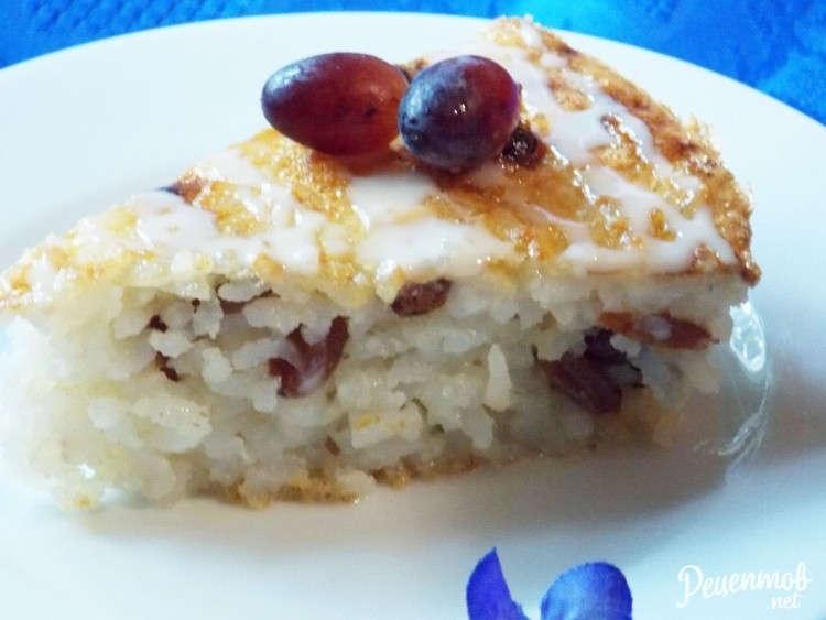 запеканка рисовая с изюмом в духовке