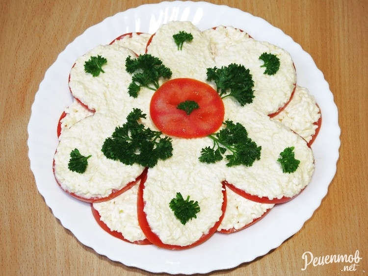 салат помидоры под шубой рецепт и фото
