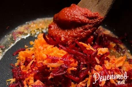 рецепт борщ со свеклой и капустой с фото пошаговое