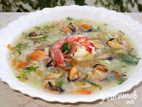 суп из морепродуктов морской коктейль со сливками рецепты