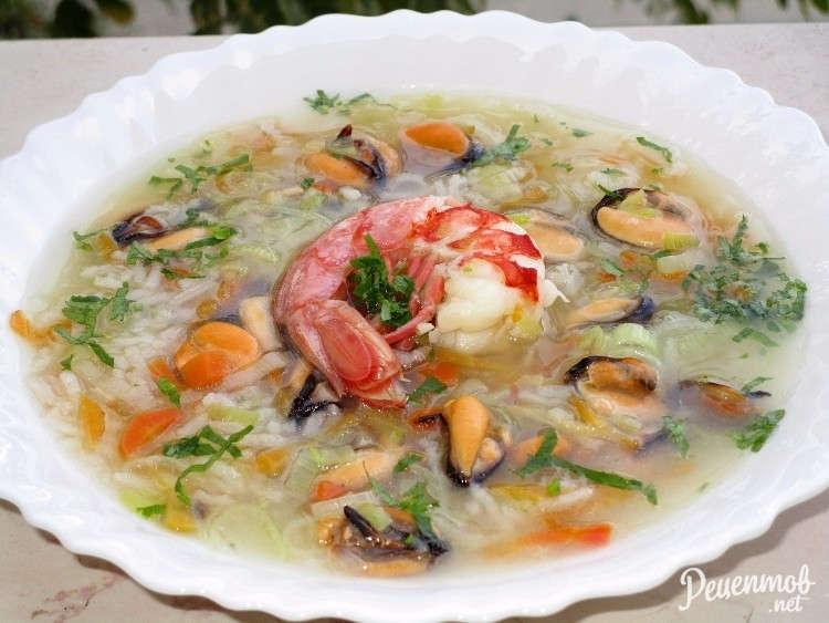 как приготовить суп из морского коктейля