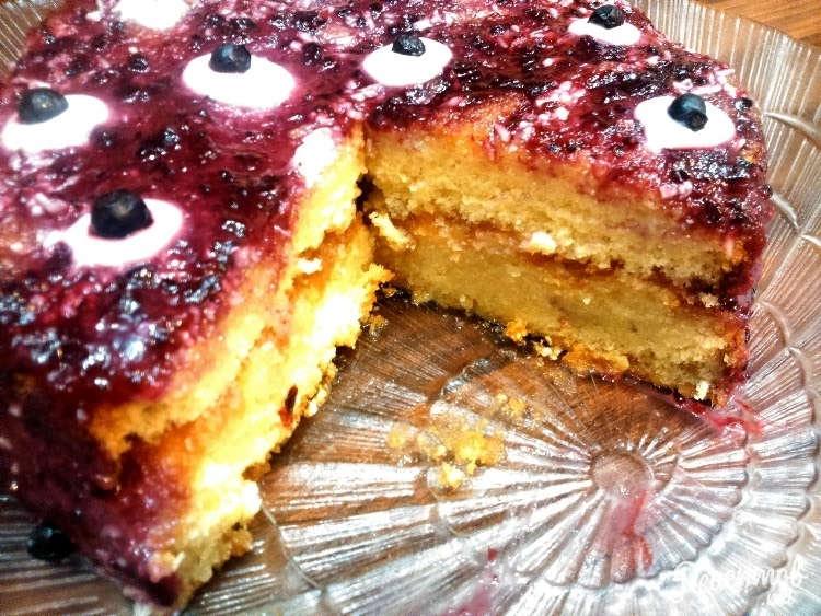 бисквит с вареньем рецепт с фото